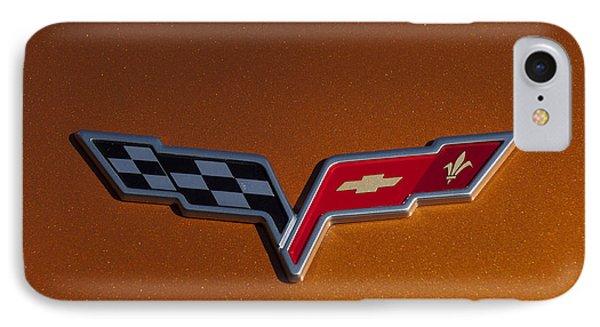 2007 Chevrolet Corvette Indy Pace Car Emblem Phone Case by Jill Reger