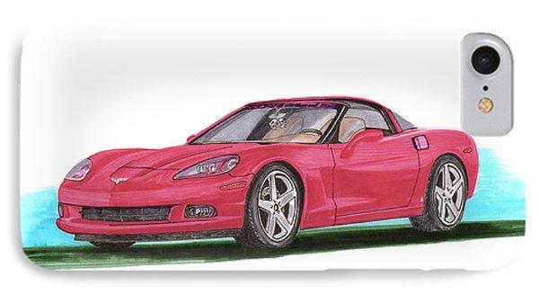 2007 Corvette C 6 Phone Case by Jack Pumphrey