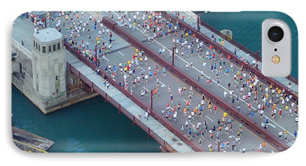 IPhone Case featuring the photograph 2008 Chicago Marathon by Kay Gilley