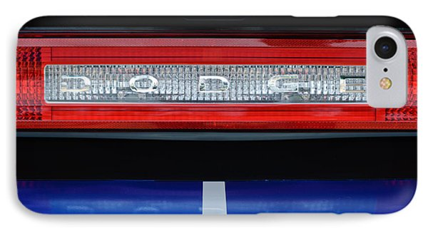 2011 Dodge Challenger Rt Hemi Taillight Emblem IPhone Case