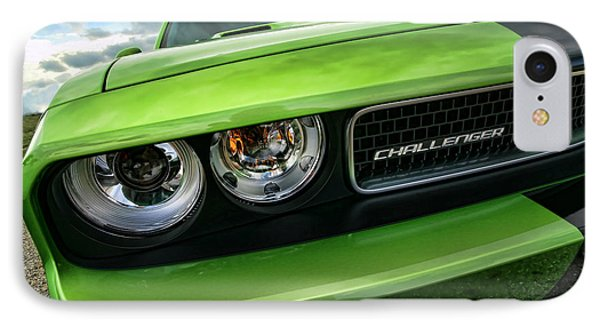 2011 Dodge Challenger Srt8 Green With Envy Phone Case by Gordon Dean II
