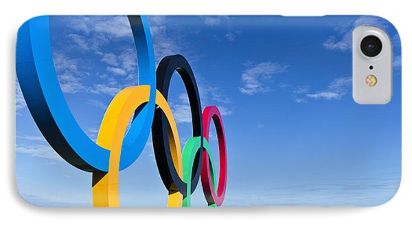 2012 Olympic Rings Over Edinburgh IPhone Case by Ross G Strachan