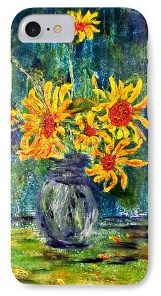2012 Sunflowers 4 IPhone Case by Denny Morreale