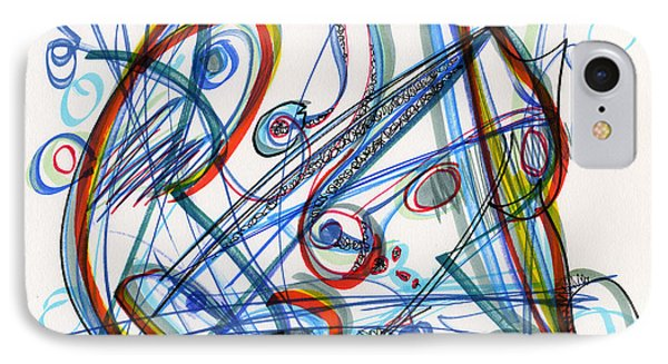 2013 Abstract Drawing #12 IPhone Case by Lynne Taetzsch