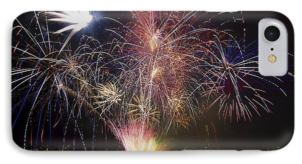2013 Independence Day Fireworks Display On Portland Oregon Water Phone Case by David Gn