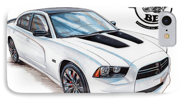 2014 Dodge Charger Super Bee IPhone Case by Shannon Watts