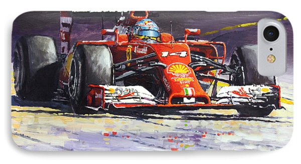 2014 Ferrari F14t Fernando Alonso  IPhone Case by Yuriy Shevchuk