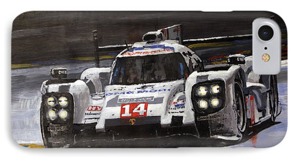 2014 Le Mans 24 Porsche 919 Hybrid  IPhone Case by Yuriy Shevchuk