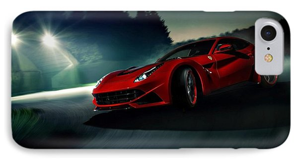 2014 Novitec Rosso Ferrari F12 Berlinetta N Largo IPhone Case by Movie Poster Prints