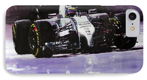 2014 Williams F1 Team Fw 36 Felipe Massa  IPhone Case by Yuriy Shevchuk