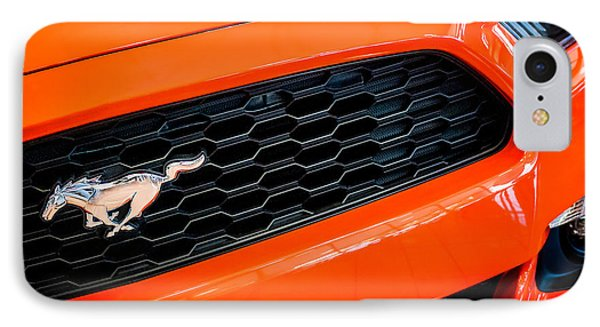 2015 Ford Mustang Prototype Grille Emblem -0092c Phone Case by Jill Reger