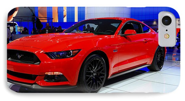 2015 Mustang In Red IPhone Case by Rachel Cohen
