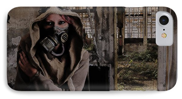 2050 Post Apocalyptic Scene IPhone Case by Galen Valle