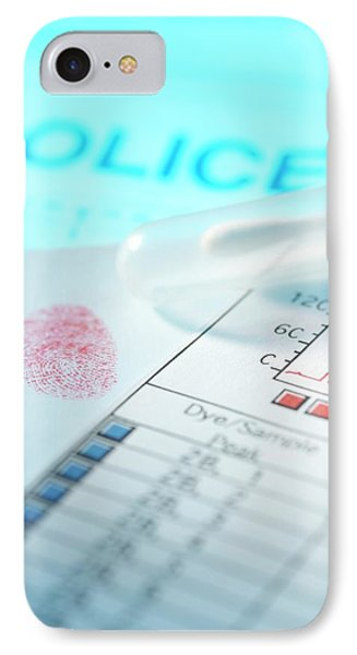 Forensic Evidence IPhone Case by Tek Image