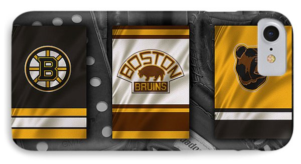 Boston Bruins IPhone Case by Joe Hamilton