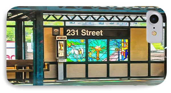 231 Street Subway IPhone Case by Mick Flynn