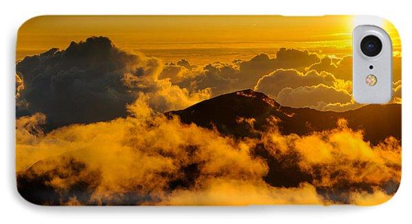 Clouds At Sunrise Over Haleakala Crater Maui Hawaii Usa IPhone Case