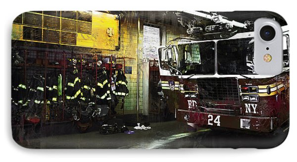 IPhone Case featuring the photograph 24 Hook And Ladder Fdny by John Rivera