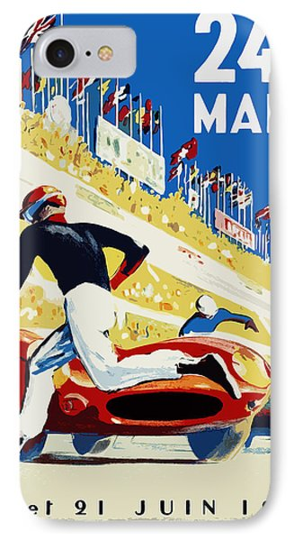 24 Hour Le Mans 1959 IPhone Case by Mark Rogan