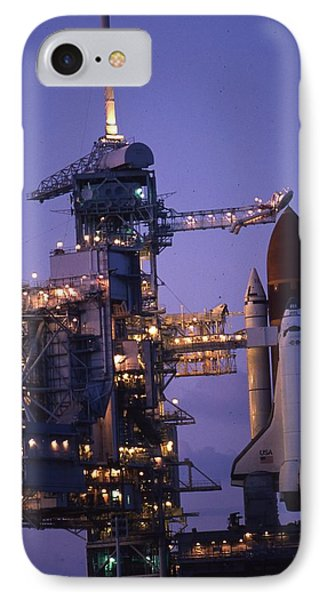 Space Shuttle Challenger  IPhone Case by Retro Images Archive