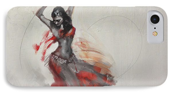 Belly Dancer 3 IPhone Case by Corporate Art Task Force