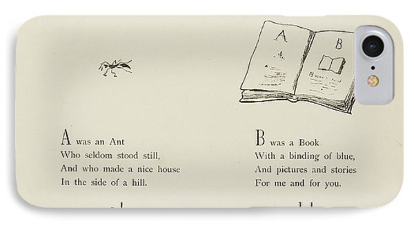 Nonsense Alphabets By Edward Lear IPhone Case by British Library