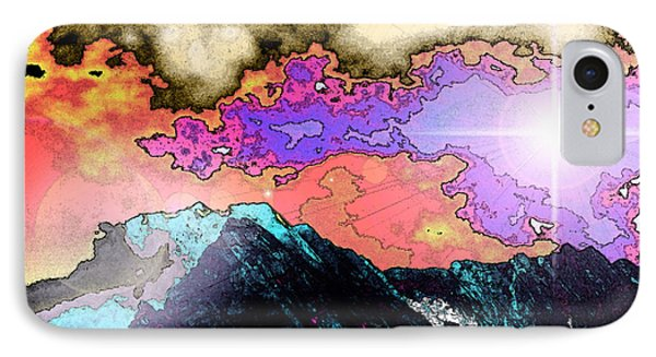 Space Landscape IPhone Case by Augusta Stylianou