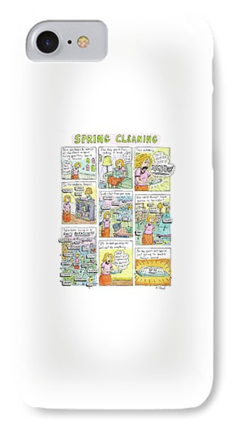 Captionless. spring Cleaning IPhone Case by Roz Chast