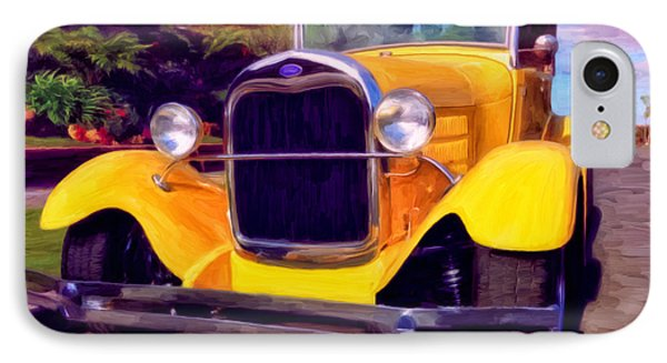 IPhone Case featuring the painting '28 Ford Pick Up by Michael Pickett