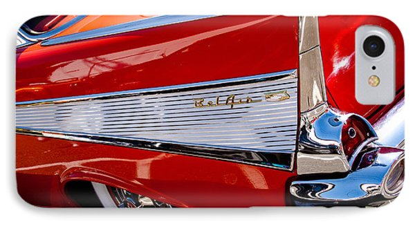 1957 Chevy Bel Air Custom Hot Rod IPhone Case by David Patterson