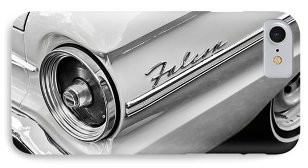 1963 Ford Falcon Futura Convertible Taillight Emblem IPhone Case by Jill Reger