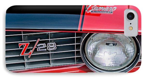 1969 Chevrolet Camaro Z 28 Grille Emblem Phone Case by Jill Reger