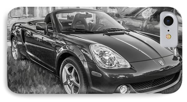 2005 Toyota Mr2 Sports Car Painted Bw  IPhone Case