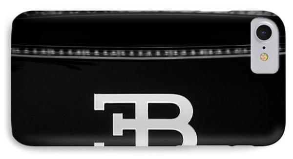 2008 Bugatti Veyron Emblem IPhone Case by Jill Reger