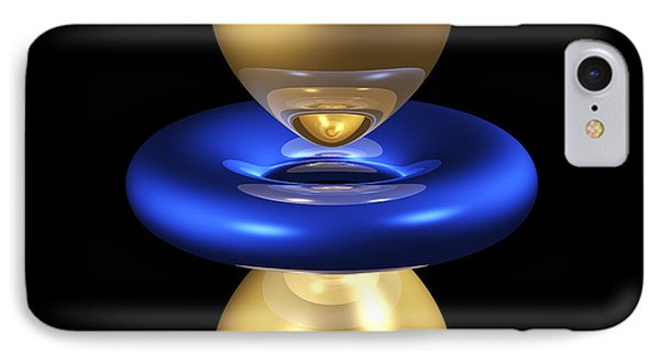3dz2 Electron Orbital IPhone Case by Dr. Mark J. Winter