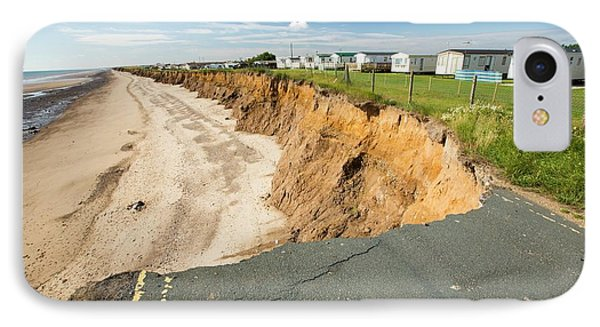 A Collapsed Coastal Road At Skipsea IPhone Case