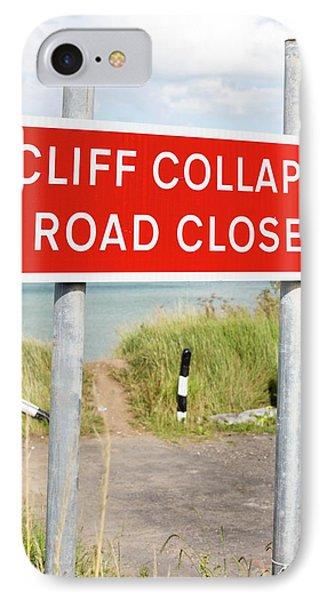 A Collapsed Coastal Road Near Aldbrough IPhone Case