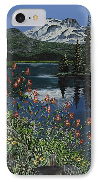 IPhone Case featuring the painting A Peaceful Place by Jennifer Lake