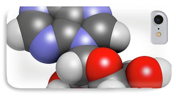 Adenosine Purine Nucleoside Molecule IPhone Case