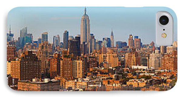 Aerial View Of A City, Manhattan, New IPhone Case by Panoramic Images