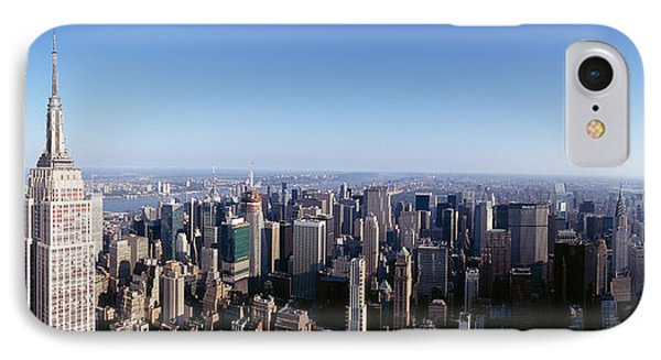 Aerial View Of A Cityscape, Empire IPhone Case by Panoramic Images