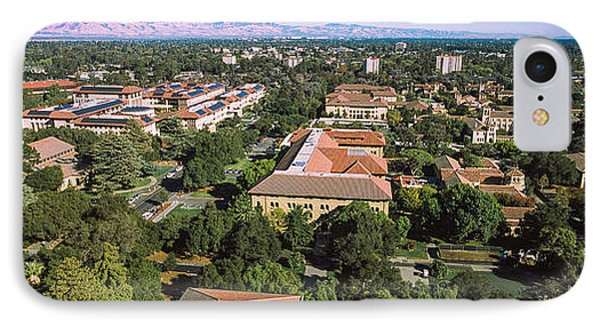 Aerial View Of Stanford University IPhone Case by Panoramic Images