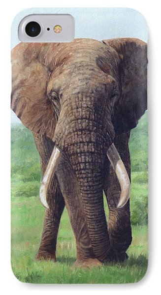 African Elephant IPhone 7 Case by David Stribbling