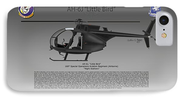 Ah-6j Little Bird Phone Case by Arthur Eggers