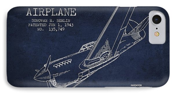 Airplane Patent Drawing From 1943 IPhone Case by Aged Pixel