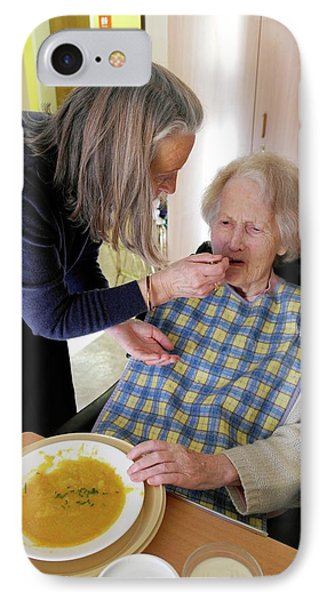 Alzheimer's Patient Being Fed IPhone Case