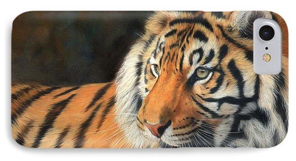 Amur Tiger IPhone Case by David Stribbling