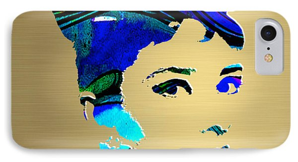 Audrey Hepburn Gold Series IPhone Case by Marvin Blaine