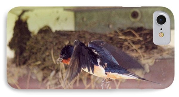 Barn Swallows Constructing Their Nest Phone Case by J McCombie
