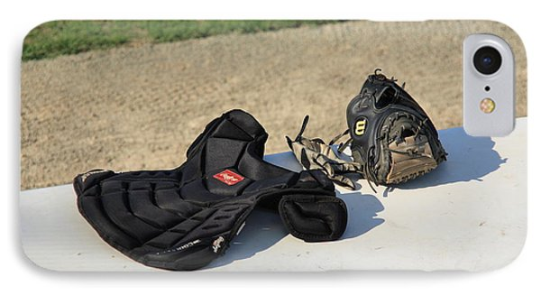 Baseball Glove And Chest Protector Phone Case by Frank Romeo